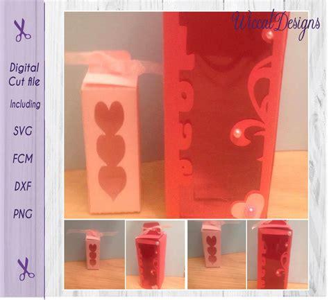 Wine Gift Box Svg Wine Box Svg Valentine Gift Box Wine Glass Svg Papercraft Paper Template Wine Glass Gift Box Template