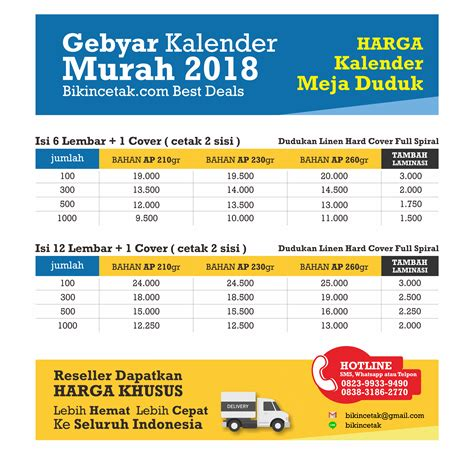 Kalender Dinding Duduk Surabaya cetak kalender 2018 percetakan murah surabaya
