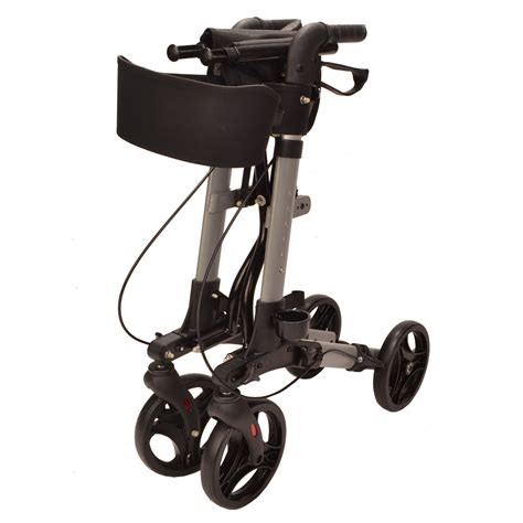 lightweight four wheel walker with seat ec x cruise walker folding lightweight 4 wheel rollator