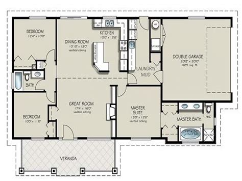 Simple 4 Bedroom Floor Plans 4 Bedroom 2 Bath House Plans Simple 4 Bedroom House Plans
