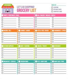 grocery list templates sle grocery list template 9 free documents in word