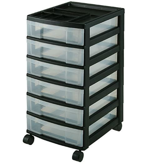 six drawer office storage chest black in storage drawers