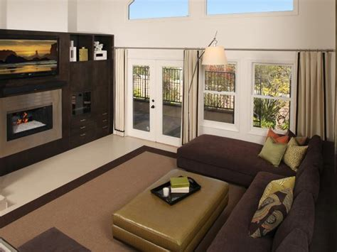 green and brown living room contemporary living space photos hgtv