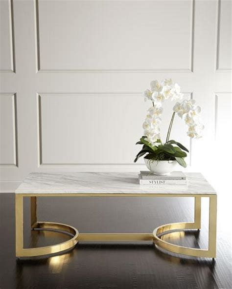 white rectangle coffee table white marble rectangle brass base coffee table