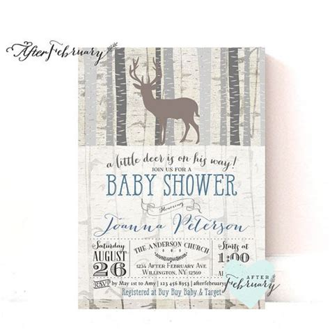 Baby Shower Invite Ideas by Woodland Baby Shower Invitation Baby Boy Shower Invite