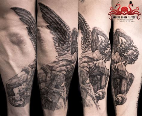 lucifer tattoo fallen lucifer by mehdi rasouli broken tooth