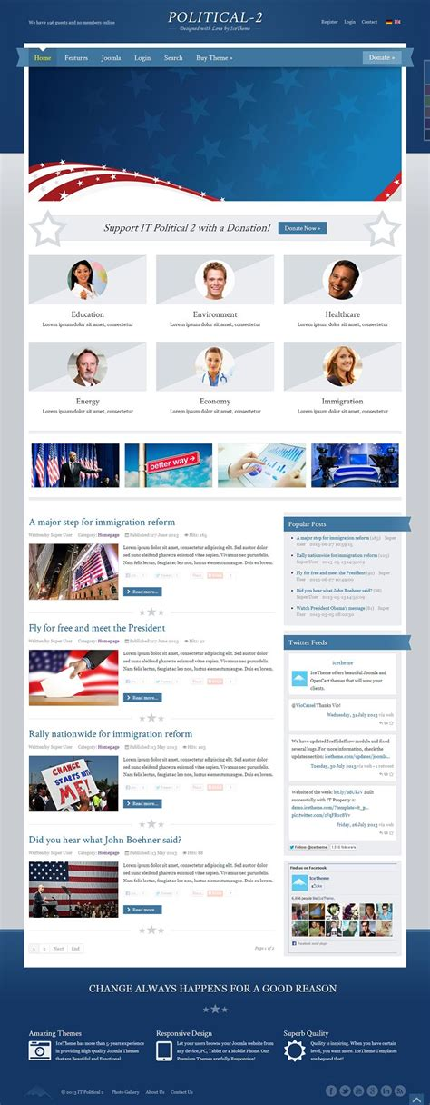 it political 2 responsive joomla template for political
