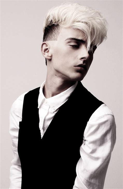 tufts and pompadour undercut white hair