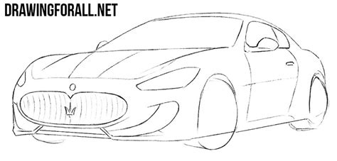 how to draw a jaguar car drawingforall net how to draw a maserati drawingforall net