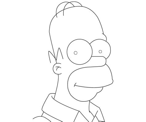 Homers Free Colouring Pages Homer Coloring Pages