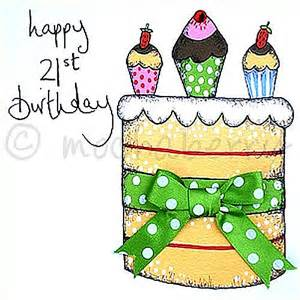 21st birthday birthday greetings card