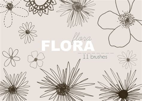 flower brush flora brushes flowers photoshop brushes brushlovers