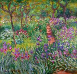 the iris garden at giverny claude monet wikiart org