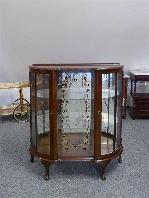 glasvitrine antik vitrine glasschrank vitrinenschrank antik englisch um 1930