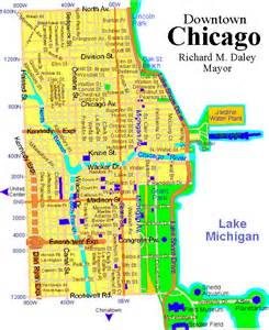 Chicago Sightseeing Map by Map Downtown Chicago Related Keywords Amp Suggestions Map