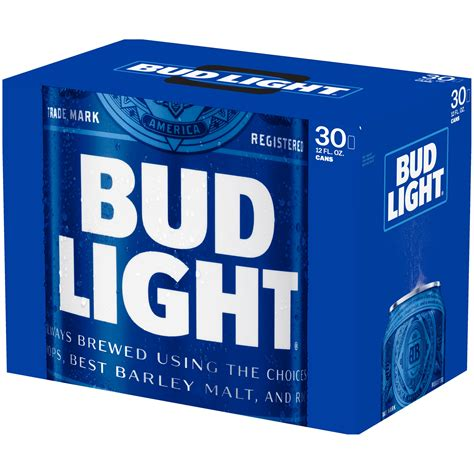 how much is a 12 pack of bud light cans how much does a 30 pack of bud light cost