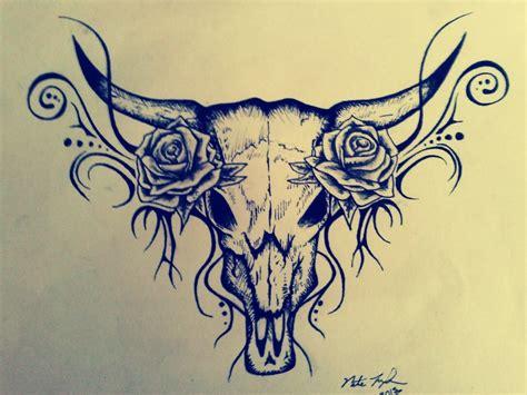 taurus rose tattoo design bull skull myfolio tattoos