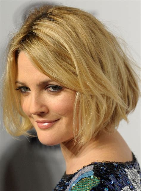 Drew Barrymoores Hair by Drew Barrymore S Blond Bob Hairstyle With Waves