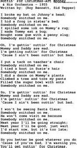 Download nuttin for christmas art mooney lyrics as pdf file for