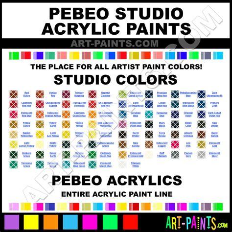 pebeo studio acrylic paint colors pebeo studio paint colors studio color studio acrylics