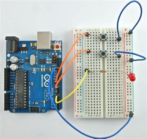 arduino code push button arduino lesson 6 digital inputs