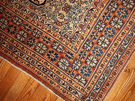Handmade Rug - antique tabriz hajalili handmade rug 1880s for