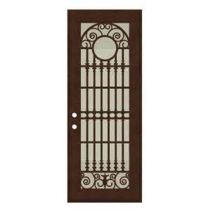 home depot security door unique home designs 36 in x 96 in spaniard copperclad