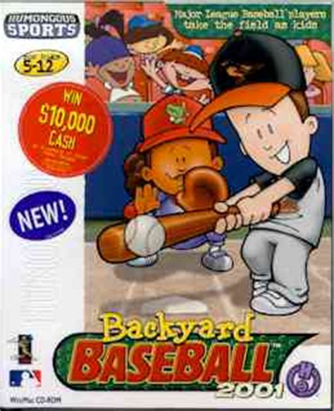 backyard baseball humongous entertainment play online backyard baseball 2001 humongous entertainment games