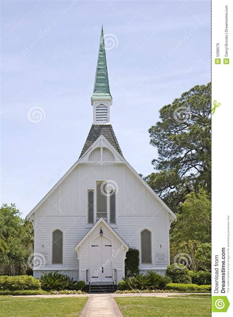 small chapel with green steeple royalty free stock images