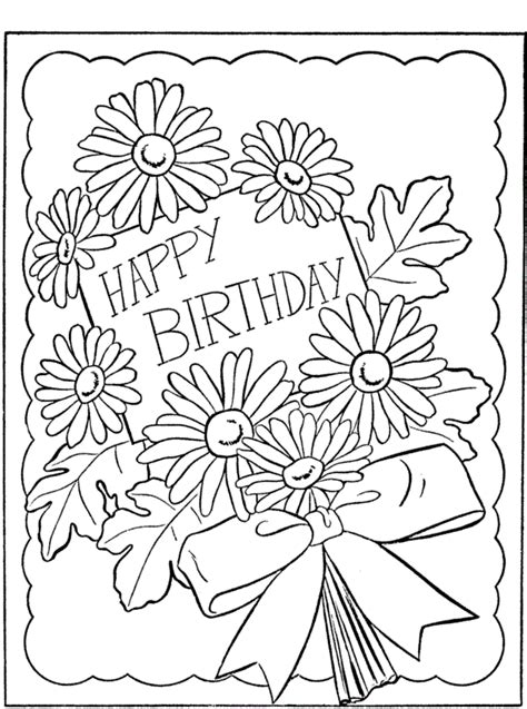 Free Printable Happy Birthday Coloring Pages For Kids Happy Birthday Coloring Pages