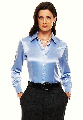 Blouse By Heaven Light Clo satin blouses shiny satin blouses