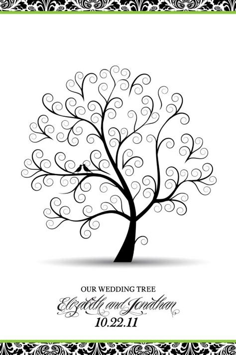 My Wedding Tree Guestbook Poster Weddingbee Photo Gallery Tree Poster Template