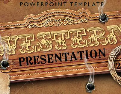 Western Style Powerpoint Presentation Template On Behance Western Powerpoint Template