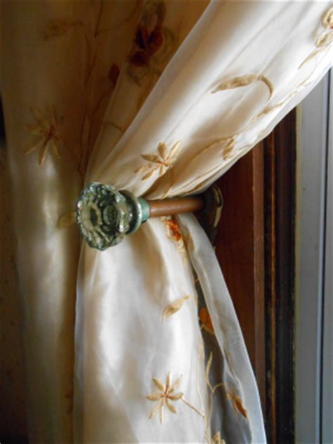 Curtain Knob Tie Backs by Sow S Ear One Of A Curtain Tie Backs