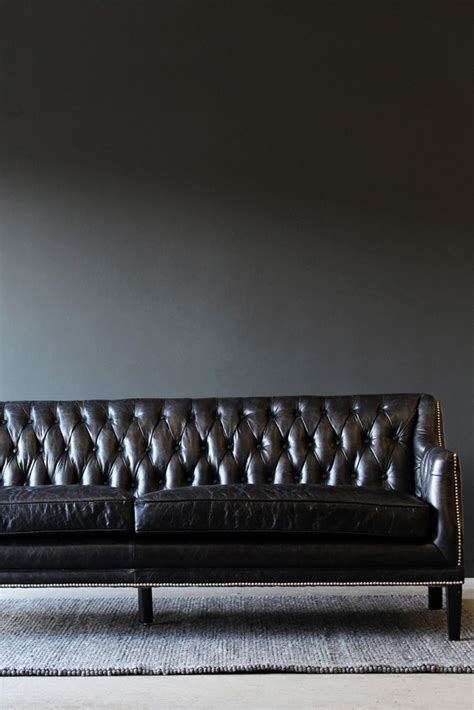 black leather chesterfield sofa large from rockett st george