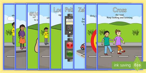 printable road for display road crossing safety posters safety safe crossing road