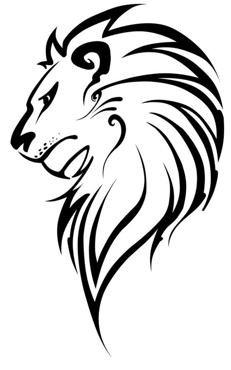 easy lion tattoo designs lion head royalty free stock vector art illustration this