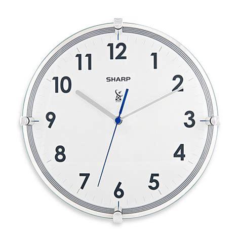 atomic bathroom clock buy sharp 11 inch atomic wall clock from bed bath beyond