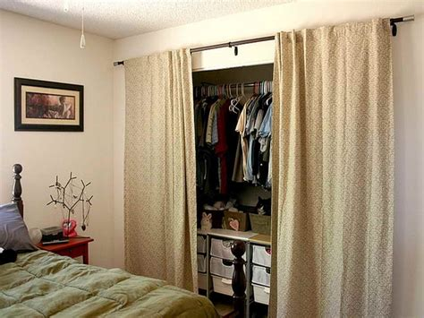 bedroom closet curtains closet door alternatives on pinterest closet doors