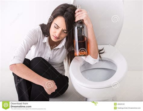 bathroom problems while pregnant woman in toilet stock photo image 49329122