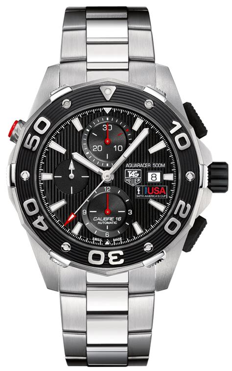 Tag Heuer Aquaracer Automatic 500 Oracle Team Usa Limited Cak211b Ba08 Oracle Team Usa 34th America S Cup Tag Heuer Aquaracer