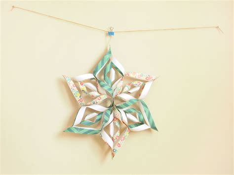 Paper Snowflakes 3d - how to make a 3d paper snowflake 13 steps with pictures