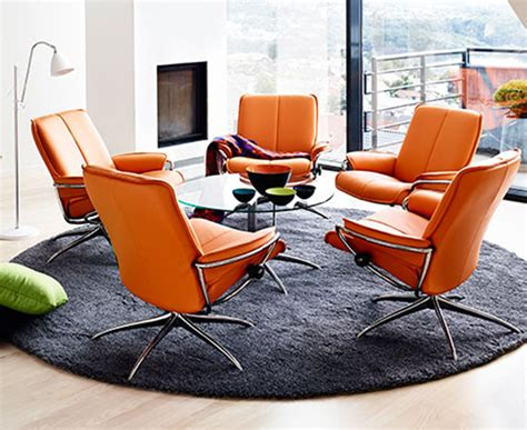 Stressless City Recliner by Ekornes Stressless City Low Back Leather Recliner Chair