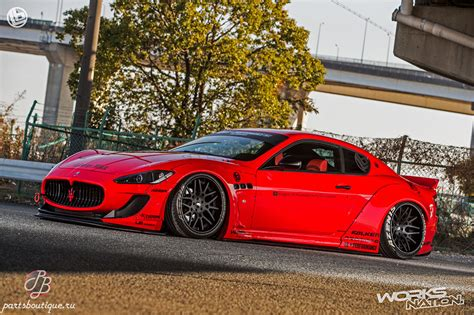 maserati granturismo performance parts аэродинамический обвес liberty walk lb performance