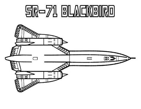 black bird coloring page sr71 black bird colouring pages