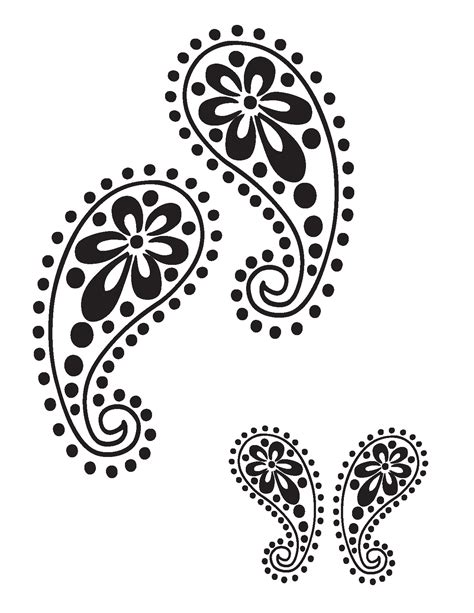 8 Best Images Of Printable Abstract Stencil Designs Printable Paisley Stencil Designs Paisley Stencil Templates Free