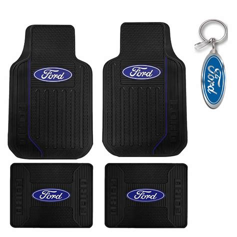 Car Floor Mats Made In Usa by New Ford Elite Logo Car Suv Truck Black Rubber Floor Mats