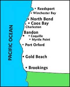 southern oregon coast map oregon coast travel guide southern coast lodging
