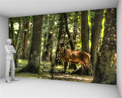 Nature Wall Stickers papier peint cerf dans la foret 82 50 euros