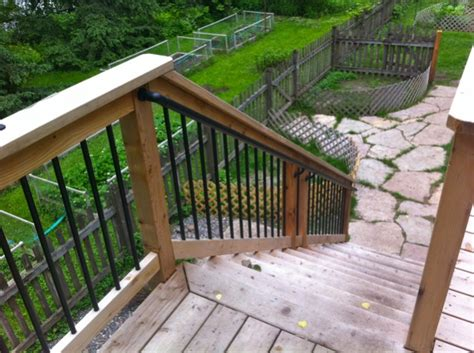 Handrail Options stair handrail options decks fencing contractor talk